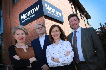 rom L to R, Morrow Communications Directors Claire Bonner, Kieran Donnelly and Moya Neeson, and Managing Director Peter Morrow.