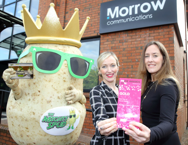 25 Oct 2016 - Morrow Communications wins PR award for Mighty Spud campaign.