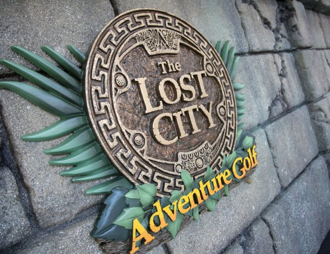The Lost City Adventure Golf - Exterior Wall